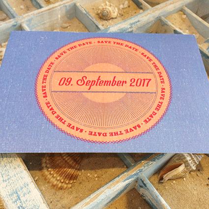 Save the Date-Karte zur Hochzeit