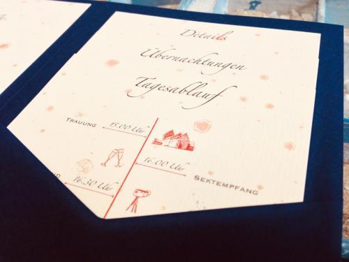 Hochzeitseinladung mit Mohnblumen