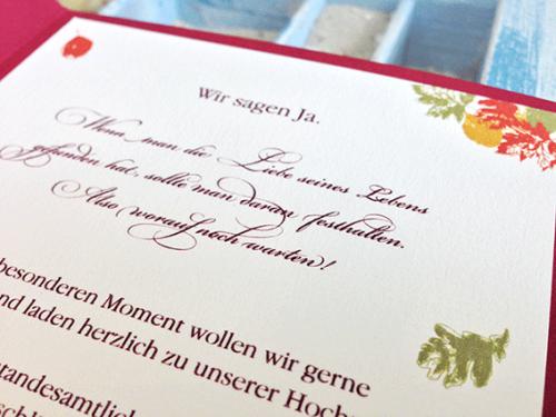 Hochzeitskarte Herbst