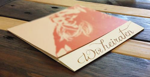 Hochzeitskarte-Popart
