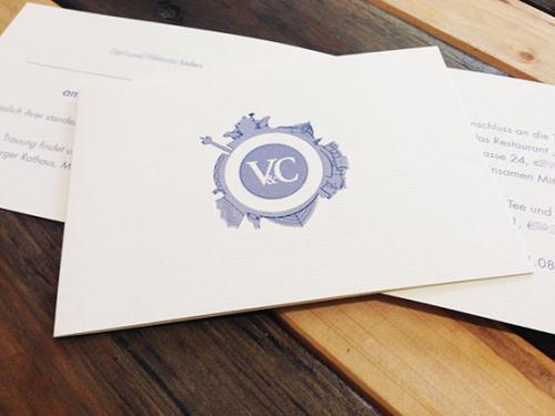 Hochzeitskarte, Logo-Entwicklung