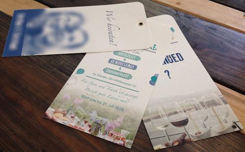 Hochzeitskarte mit Öse