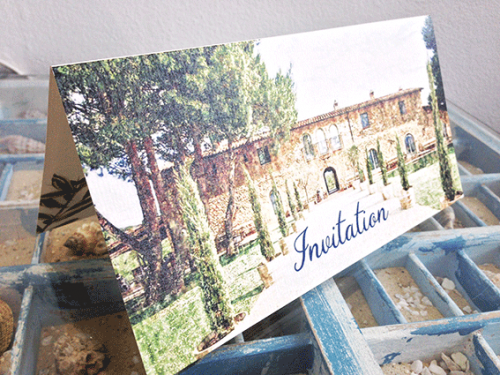 Hochzeitskarte Toscana
