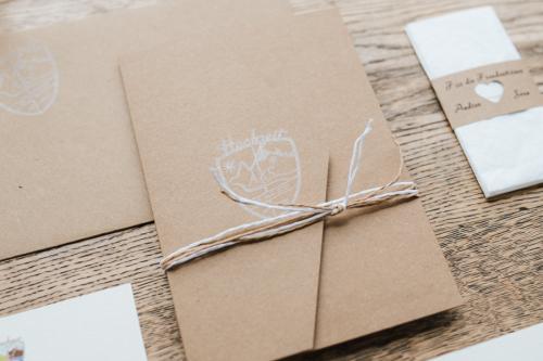 Hochzeitskarte, Kraftkarton