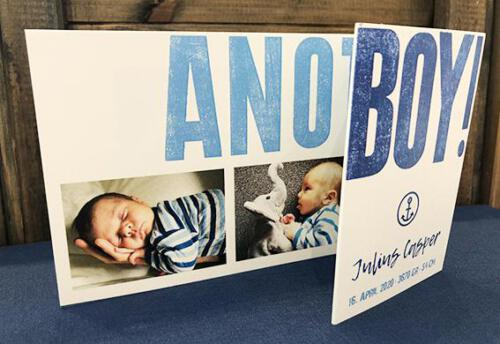 "Geburtskarte ""Another Boy"""